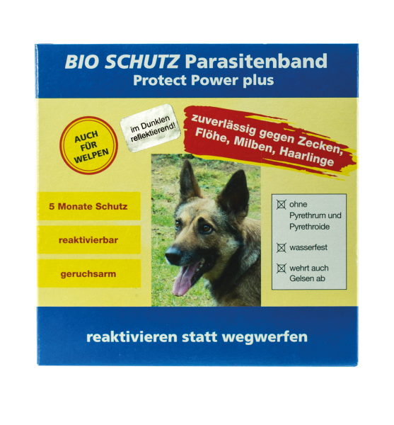 BIO SCHUTZ Parasitenband Protect Power Plus Hund Art.Nr. 384, 388